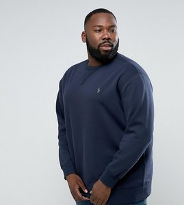 Read more about Polo ralph lauren plus sweatshirt with logo in navy - aviator navy grey