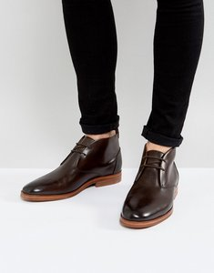 Read more about H by hudson matteo leather desert boots in brown - brown