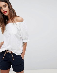 Read more about Esprit bardot flare sleeve top - white