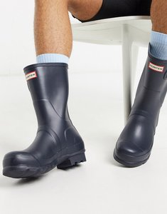Read more about Hunter original short wellies in blue - blue
