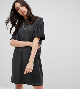 Read more about Asos design tall t-shirt dress with rolled sleeves and wash
