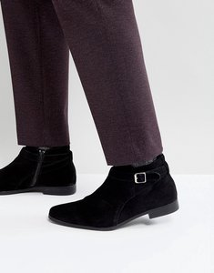 Read more about Zign suede buckle boots - black