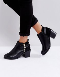 Read more about Office academy buckle ankle boots - black