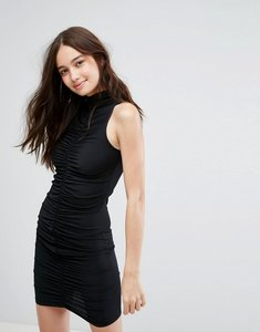 Read more about New look bodycon ruched mini dress - black