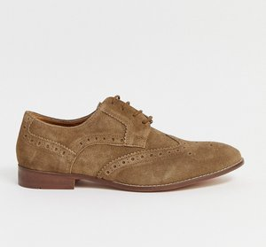 Read more about Kg by kurt geiger brogues in brown suede - brown