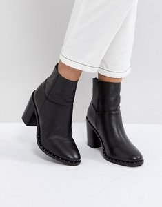 Read more about Asos envy leather ankle boots - black leather