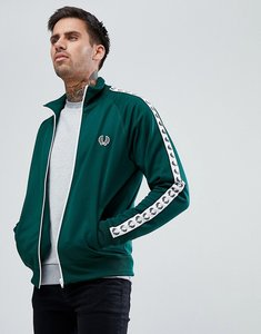 Read more about Fred perry sports authentic taped track jacket in green - 426