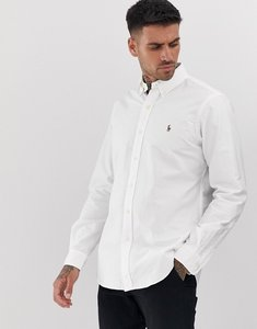Read more about Polo ralph lauren regular fit oxford shirt in white - white
