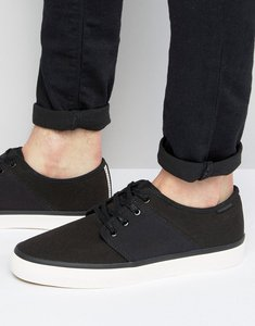 Read more about Jack jones turbo canvas plimsolls - black