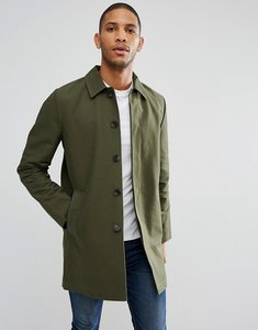 Read more about Asos single breasted trench coat with shower resistance in khaki - khaki