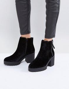Read more about Aldo koredia velvet ankle boots - black velvet