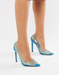 Read more about Public desire extra clear court shoes in blue - blue