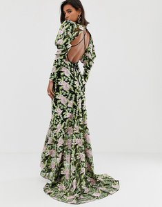 Read more about Asos edition embroidered maxi dress with fishtail