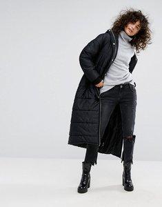 Read more about Dr denim longline padded jacket - black