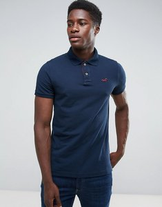 Read more about Hollister polo stretch pique icon logo slim fit in navy - navy