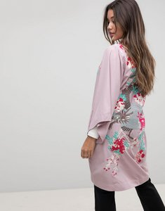 Read more about Asos premium kimono duster jacket with dragon embroidery - lilac