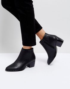 Read more about Truffle collection heeled ankle boots - black pu