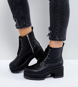 Read more about Asos bridget wide fit chunky ankle boots - black