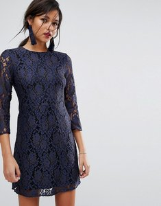 Read more about Oasis all over lace shift dress - multi blue