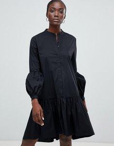 Read more about Selected femme drop hem midi dress - black