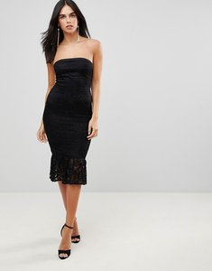 Read more about Ax paris bandeau pephem lace dress - black