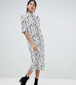 Read more about Asos design tall column dress in mono animal print - mono