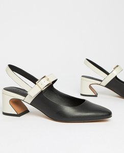Read more about Asos design scorpio kitten heels - black bone
