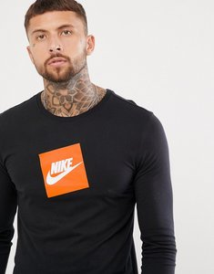 Read more about Nike box logo long sleeve t-shirt in black aj3873-010 - black