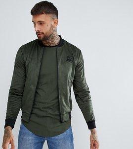 Read more about Siksilk bomber jacket in khaki exclusive to asos - khaki