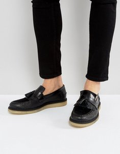 Read more about Fred perry x george cox creeper tassel leather shoes in black - black