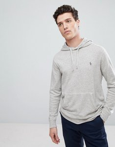 Read more about Polo ralph lauren lightweight overhead hoodie in light grey marl - light grey