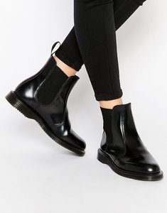 Read more about Dr martens kensington flora black chelsea boots - black