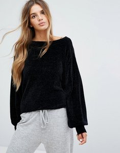 Read more about Micha lounge sleeve detail jumper - black