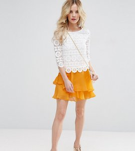 Read more about Asos petite mini rara skirt - orange