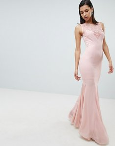 Read more about City goddess embellihsed chiffon maxi dress - pink