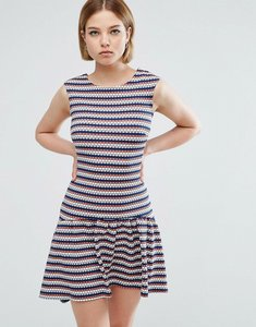 Read more about Closet london hi lo striped dress - multi
