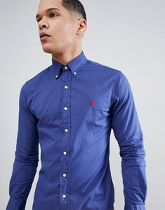Read more about Polo ralph lauren slim fit garment dyed shirt polo player in navy - new classic navy
