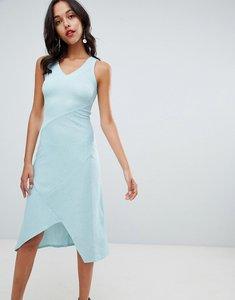 Read more about Closet london v neck midi dress - green