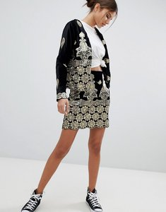Read more about Missguided embellished festival mini skirt - black