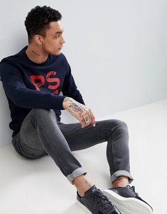 Read more about Ps paul smith ps logo crew neck sweat in navy - navy