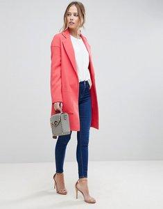 Read more about Asos crepe pocket detail coat - pink