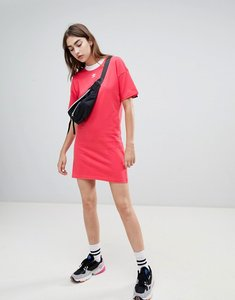 Read more about Adidas originals trefoil logo dress in pink - core pink