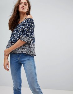 Read more about Pepe jeans ditsy floral cold shoulder blouse - multi
