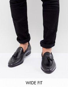 Read more about Kg by kurt geiger wide fit rochford tassel loafers - black