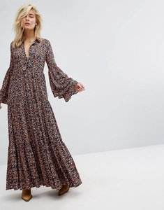 Read more about Free people full maxi smock dress - black combo