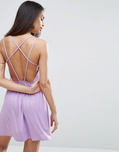 Read more about Asos strappy back a-line sundress - violet