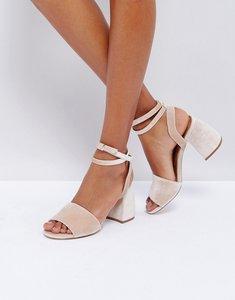 Read more about Asos hamper heeled sandals - pink velvet