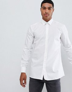 Read more about Hugo extra slim fit poplin shirt in white - white