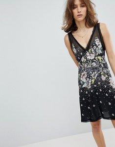 Read more about Free people longwood printed slip dress - black