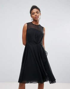 Read more about French connection winter ray chiffon dress - black